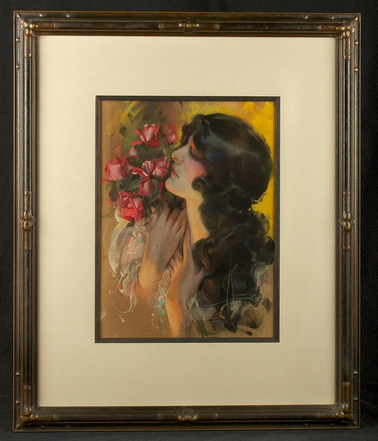 Rolf Armstrong Figurative Painting - The Dream Girl