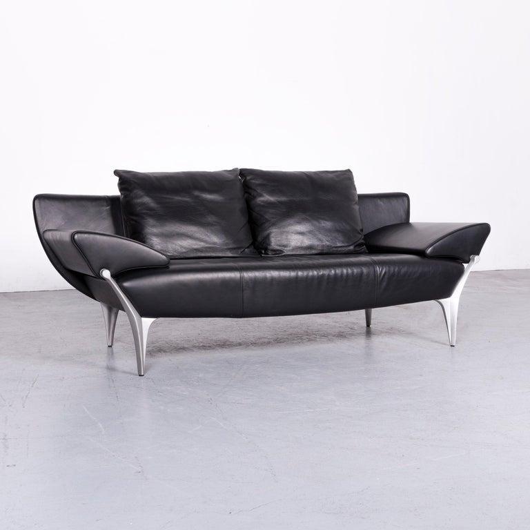 ledersofa schwarz affordable ledercouch beste ledersofa. Black Bedroom Furniture Sets. Home Design Ideas