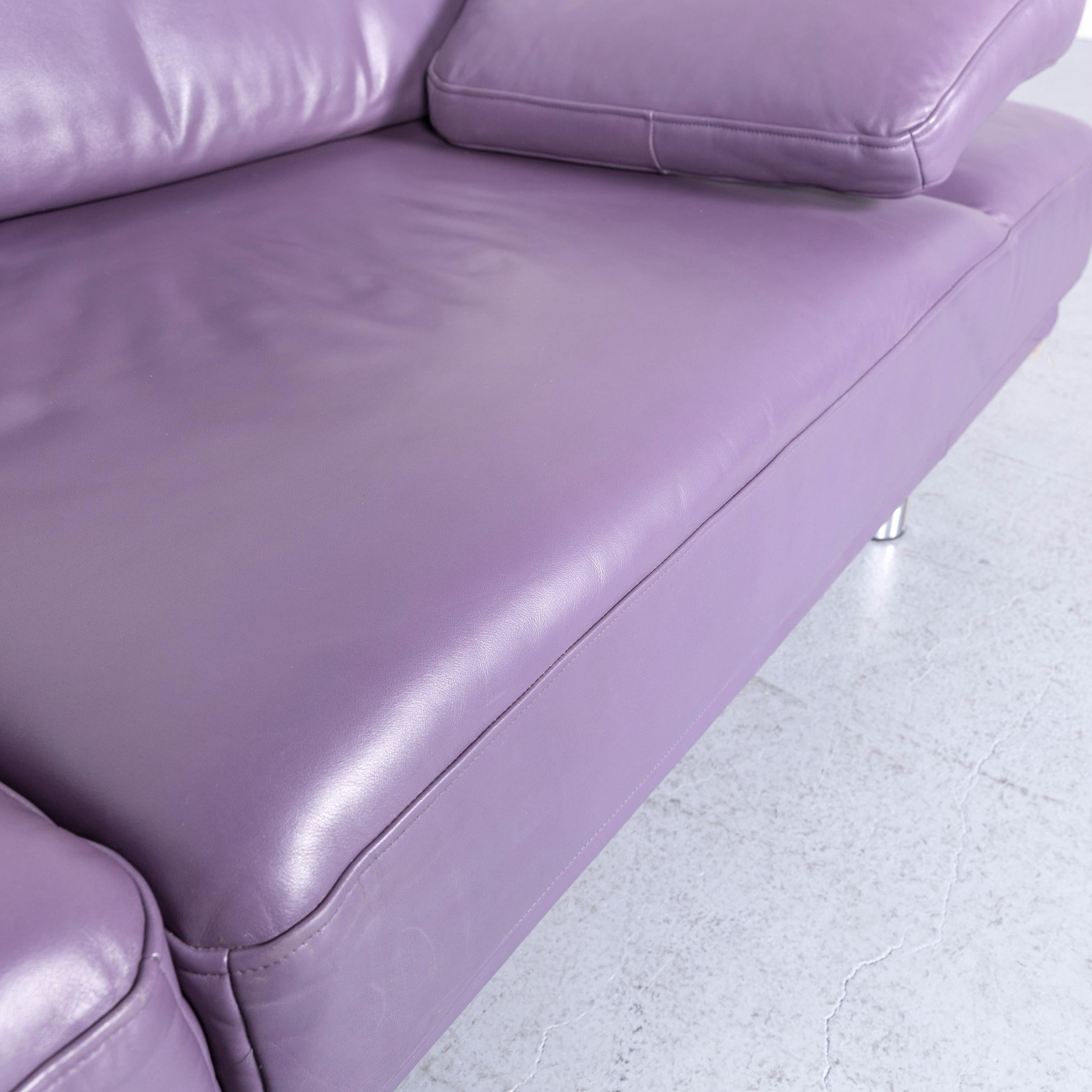 Brilliant Rolf Benz 2400 Designer Leather Sofa Purple Couch With Theyellowbook Wood Chair Design Ideas Theyellowbookinfo