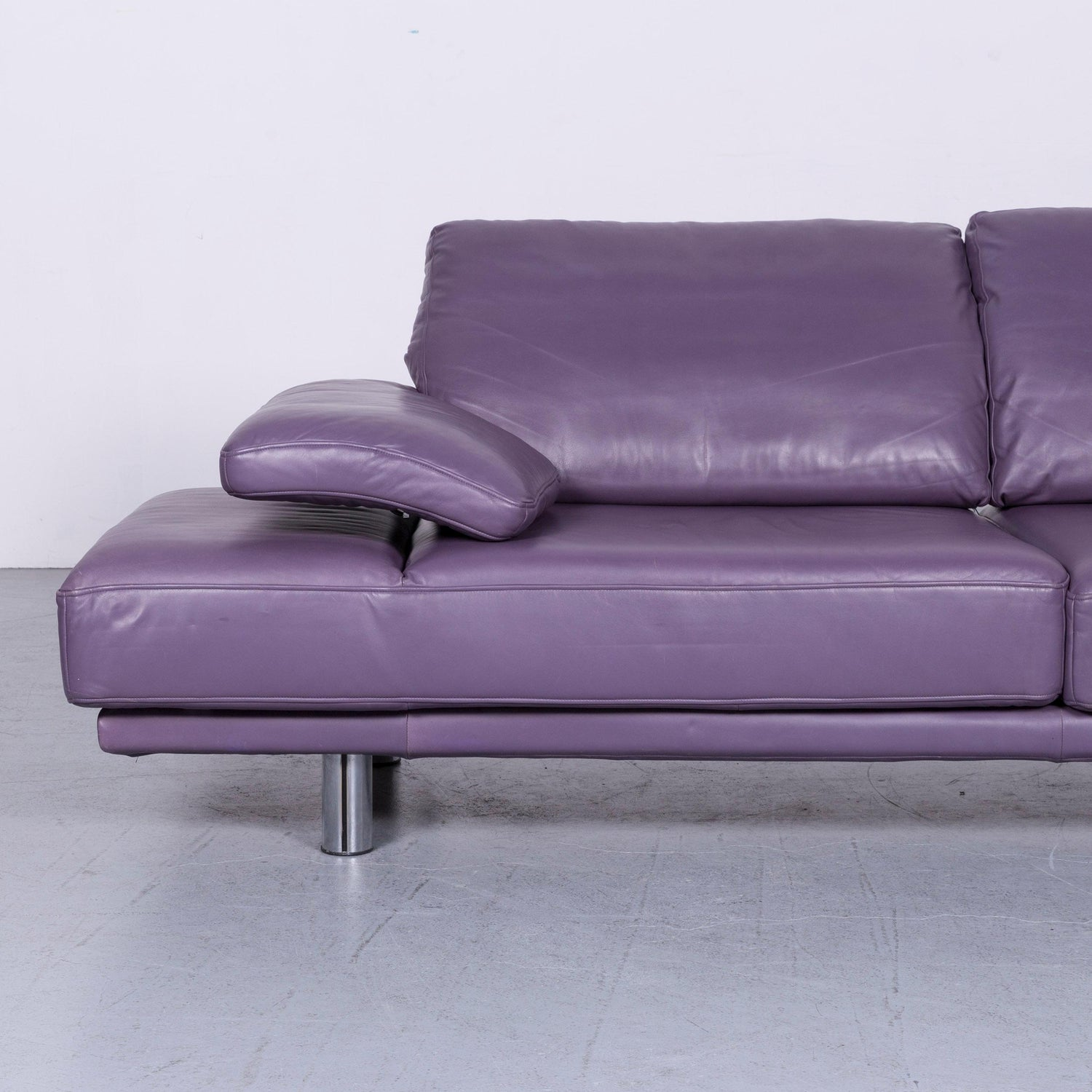 Enjoyable Rolf Benz 2400 Designer Leather Sofa Purple Couch With Theyellowbook Wood Chair Design Ideas Theyellowbookinfo