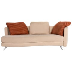 Rolf Benz 2500 Fabric Sofa Beige Two-Seat Couch