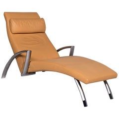 Rolf Benz 2600 Leather Lounger Yellow Relax