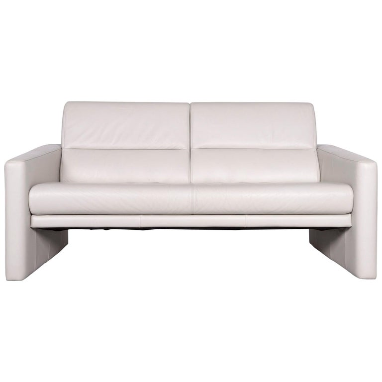 Design Bank Rolf Benz 322.Rolf Benz 312 Designer Leather Sofa Creme Two Seat Couch