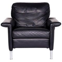 Rolf Benz 3300 Designer Leather Armchair Blue Armchair