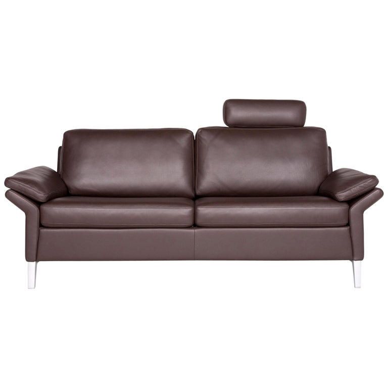 Outstanding Rolf Benz 3300 Designer Leather Sofa Brown Genuine Leather Two Seat Couch Interior Design Ideas Gentotthenellocom