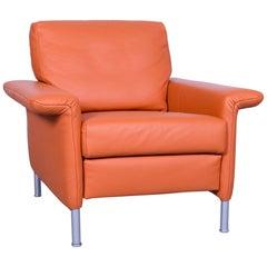 Rolf Benz 3300 Leather Armchair Orange One-Seat