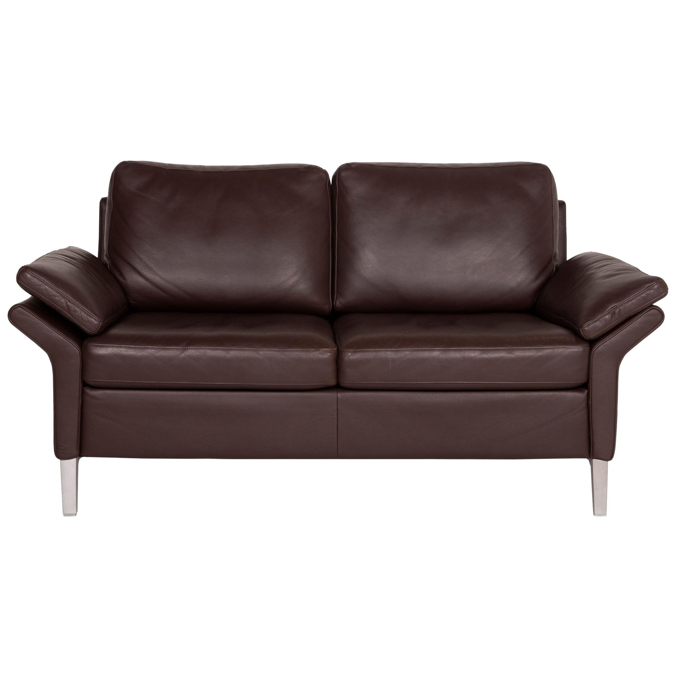 Rolf Benz 3300 Leather Sofa Brown Two-Seater
