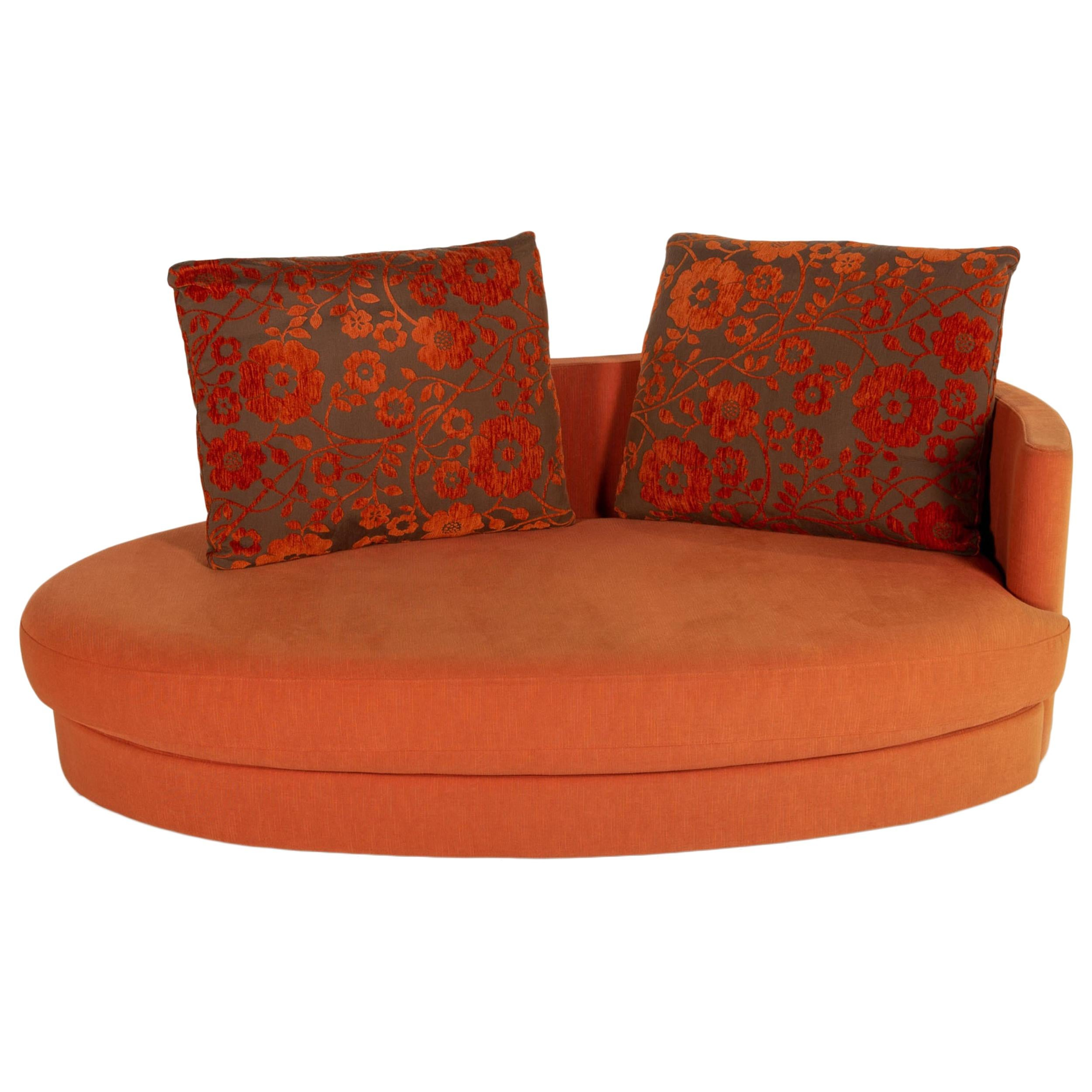 Rolf Benz 4500 fabric sofa orange two-seater couch