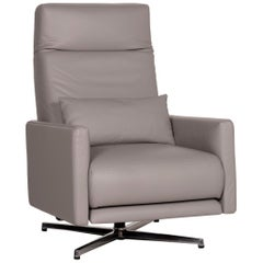 Rolf Benz 574 Leather Armchair Gray Relax Function