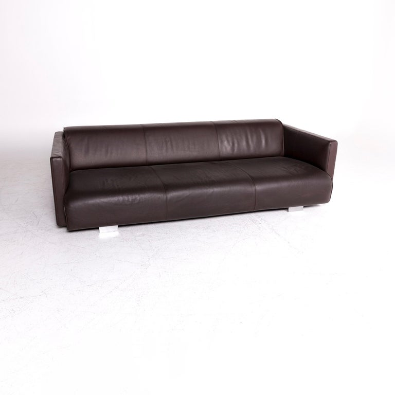 We bring to you a Rolf Benz 63006300 designer leather sofa brown three-seat couch.   Product measures in centimeters:  Depth: 121 Width: 251 Height: 70 Seat-height: 38 Rest-height: 64 Seat-depth: 85 Seat-width: 226 Back-height: 36.