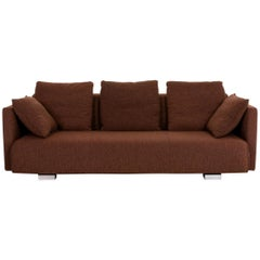 Rolf Benz 6300 Fabric Sofa Brown Three-Seat Couch