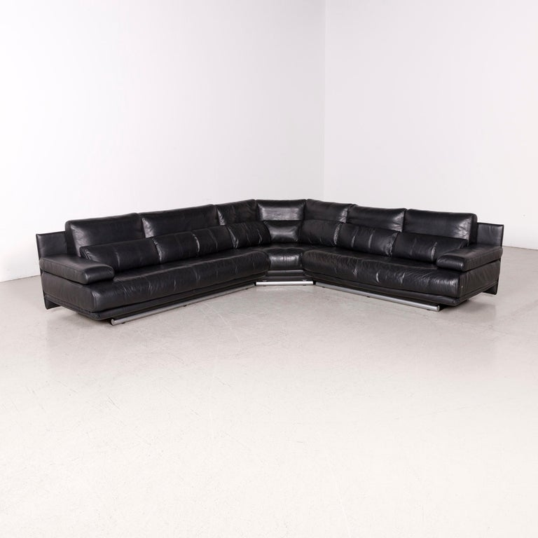 Wondrous Rolf Benz 6500 Designer Leather Sofa Black Corner Sofa Genuine Leather Couch Caraccident5 Cool Chair Designs And Ideas Caraccident5Info