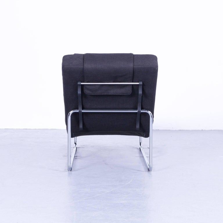 Rolf Benz 680 Designer Recliner Fabric Anthrazit Black One