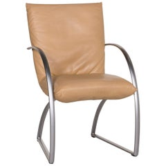 Rolf Benz 7600 Leather Chair Beige Armchair