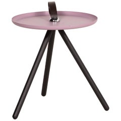 Rolf Benz 973 Metal Table Pink Coffee Table Side Table Walnut Sheet Steel Wood