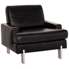 Rolf Benz AK 644 Leather Armchair Black