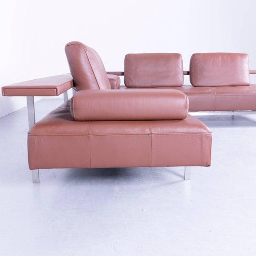Rolf Benz Dono Designer Corner Sofa Brown Leather Couch Modern at ...