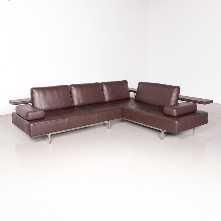 Rolf Benz Dono Designer Leather Corner Sofa Brown Genuine Leather Sofa Couch