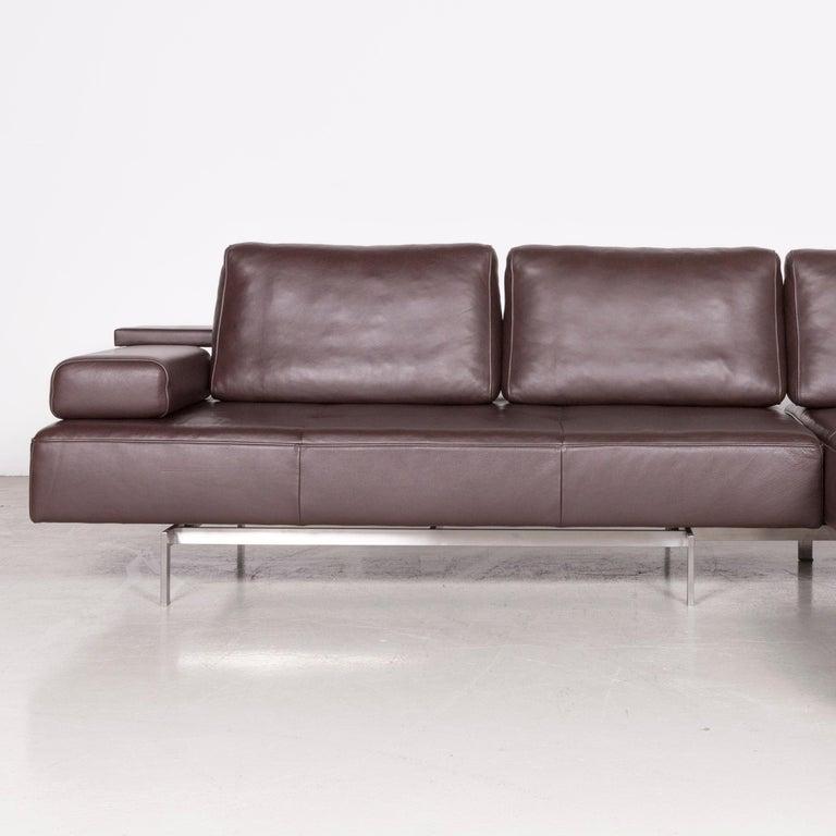 Super Rolf Benz Dono Designer Leather Corner Sofa Brown Genuine Leather Sofa Couch Interior Design Ideas Gentotthenellocom