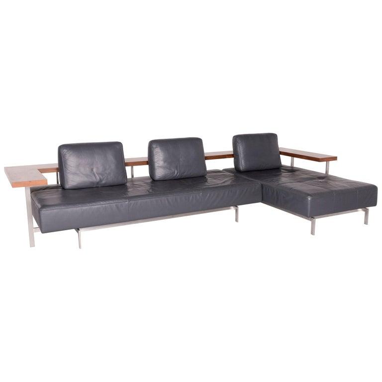 Groovy Rolf Benz Dono Designer Leather Corner Sofa Set Gray Genuine Pabps2019 Chair Design Images Pabps2019Com