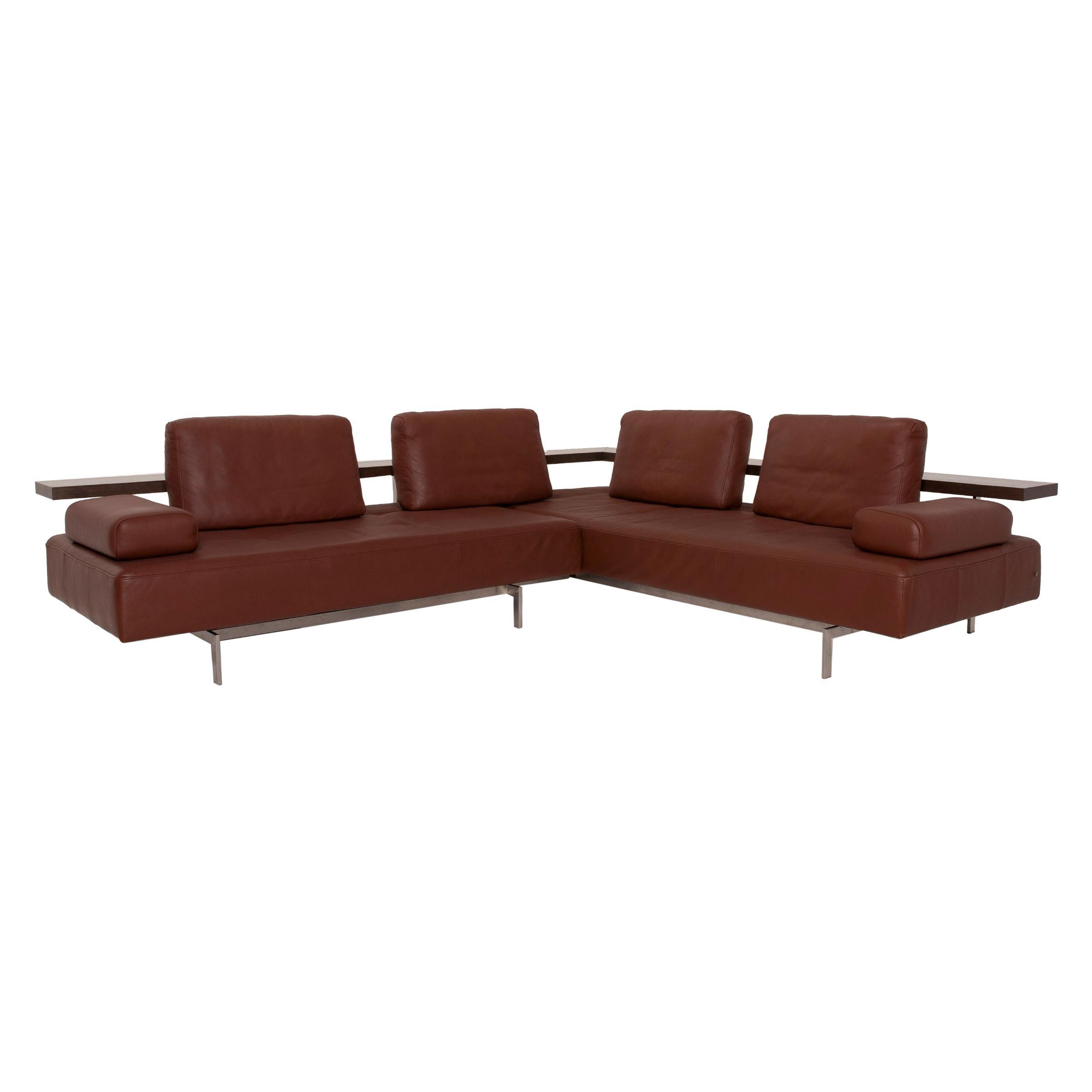 Rolf Benz Dono Leather Sofa Brown Corner Sofa