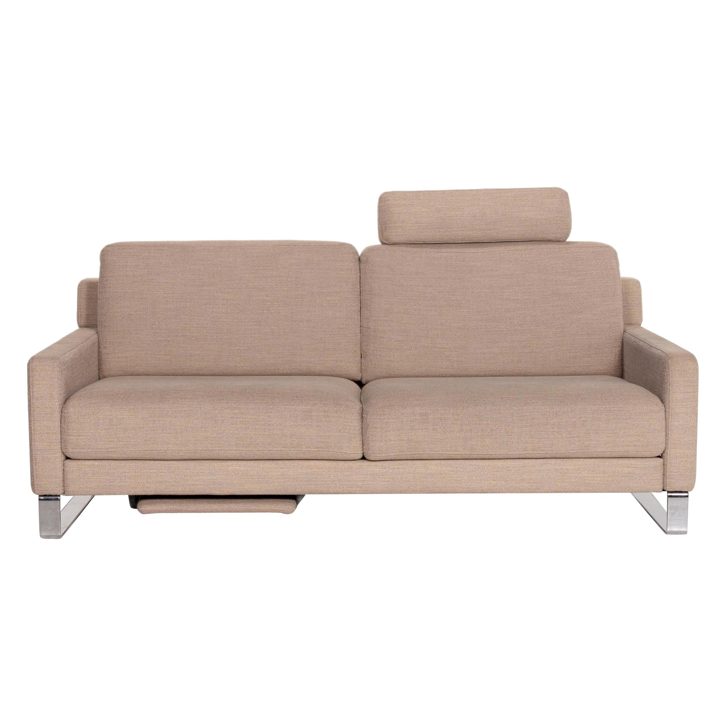 Rolf Benz Ego Fabric Sofa Beige Two-Seater