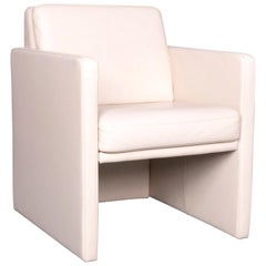 Rolf Benz Ego Leather Armchair Beige One-Seat