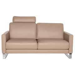Rolf Benz Ego Leather Sofa Brown Two-Seater