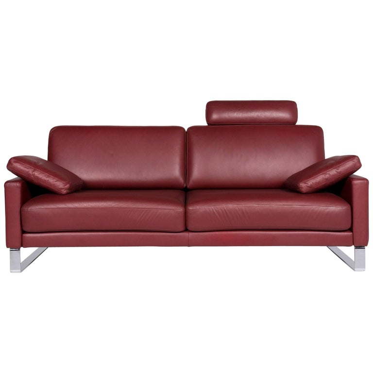 Magnificent Rolf Benz Ego Leather Sofa Red Wine Red Three Seat Couch Gamerscity Chair Design For Home Gamerscityorg