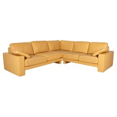 Rolf Benz Ego Leather Sofa Yellow Corner Sofa Couch