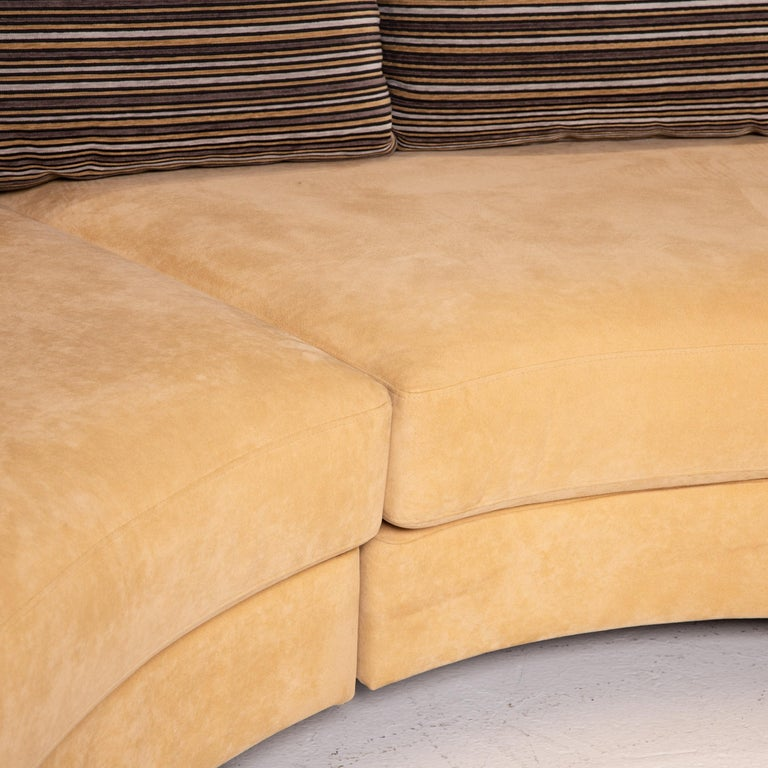 Modern Rolf Benz Fabric Corner Sofa Beige Patterned Sofa Couch For Sale