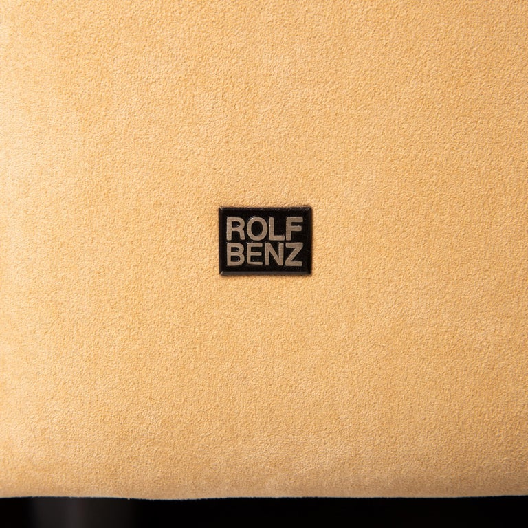 Rolf Benz Fabric Corner Sofa Beige Patterned Sofa Couch For Sale 1