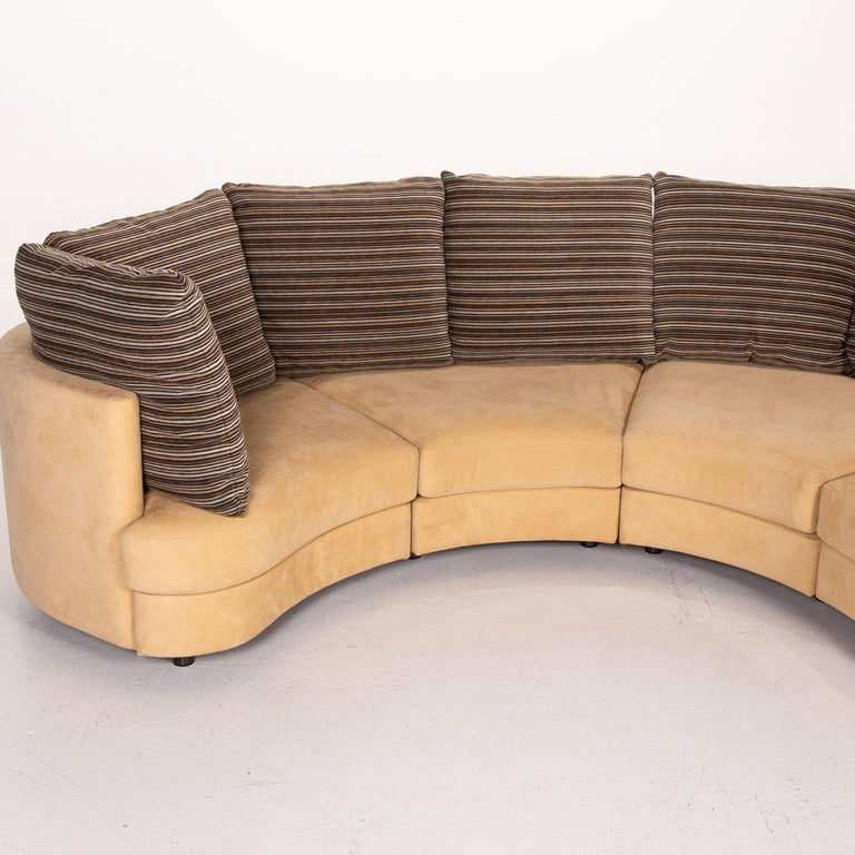 Rolf Benz Fabric Corner Sofa Beige Patterned Sofa Couch For Sale 3