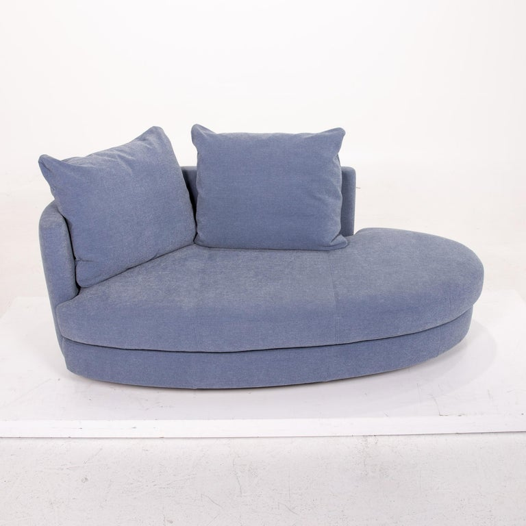 Rolf Benz Fabric Sofa Blue Two-Seat Couch 1
