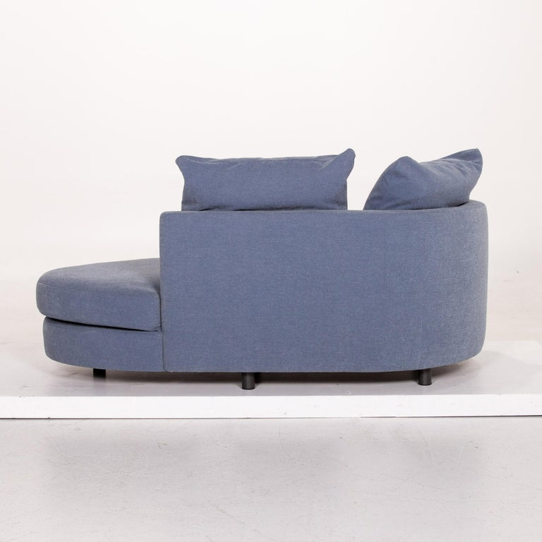 Rolf Benz Fabric Sofa Blue Two-Seat Couch 3