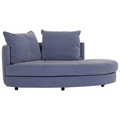 Rolf Benz Fabric Sofa Blue Two-Seat Couch