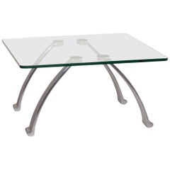 Rolf Benz Glass Coffee Table Metal