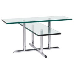 Rolf Benz Glass Coffee Table Silver Table