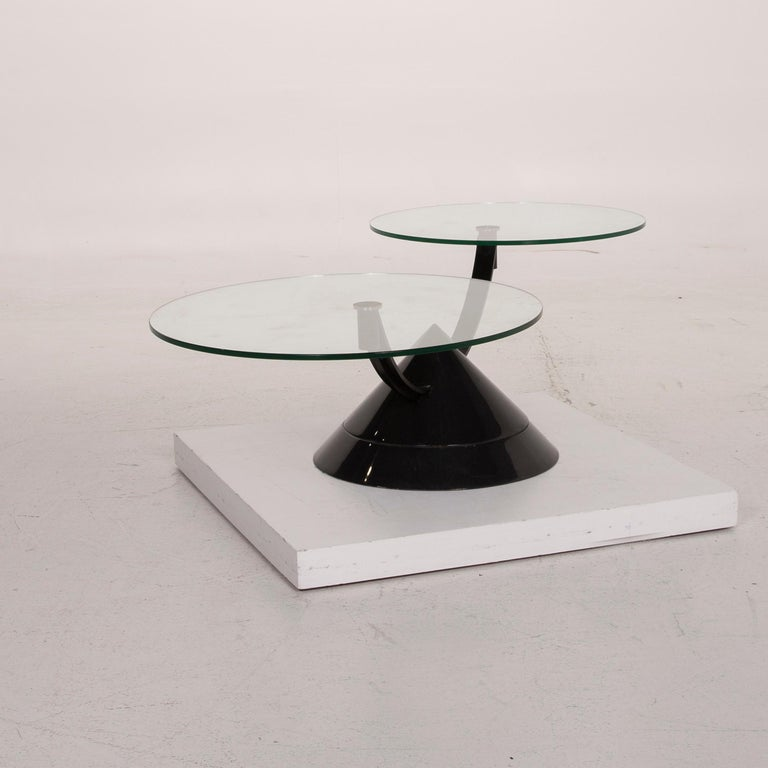 Rolf Benz Glass Table Black Coffee Table Stone Outlet Adjustable 4