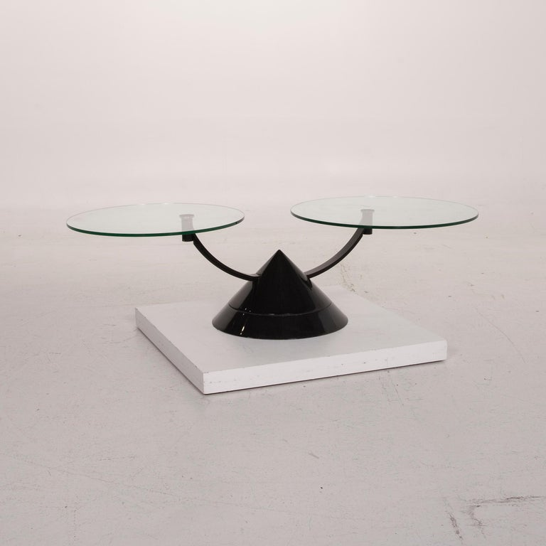 Rolf Benz Glass Table Black Coffee Table Stone Outlet Adjustable 5