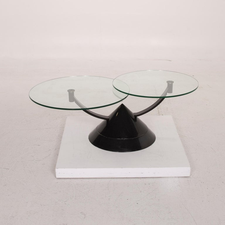 Rolf Benz Glass Table Black Coffee Table Stone Outlet Adjustable 6