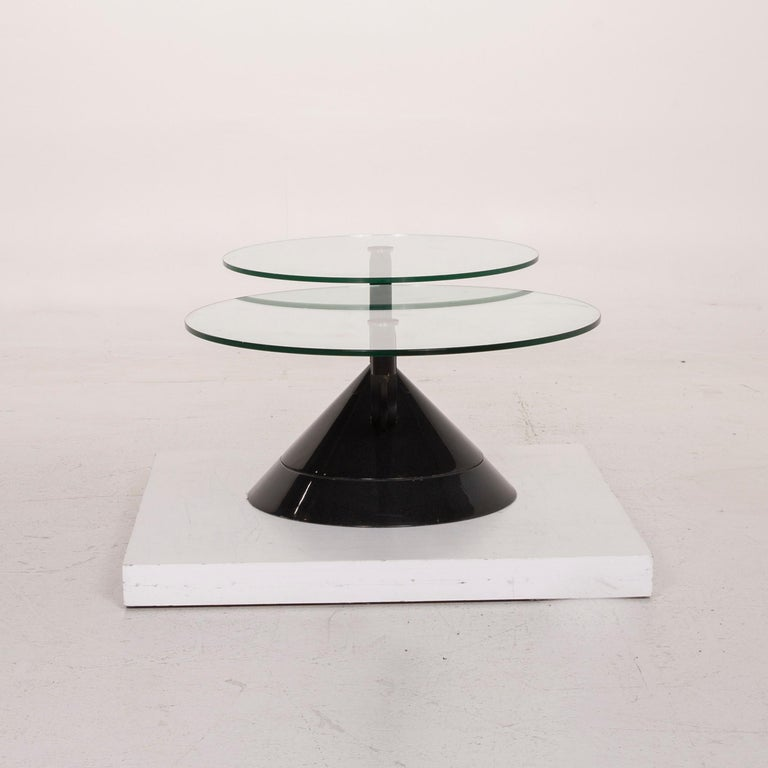 Rolf Benz Glass Table Black Coffee Table Stone Outlet Adjustable 7