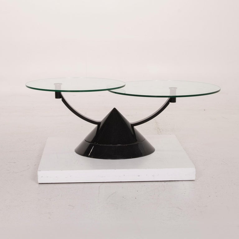 Rolf Benz Glass Table Black Coffee Table Stone Outlet Adjustable 8