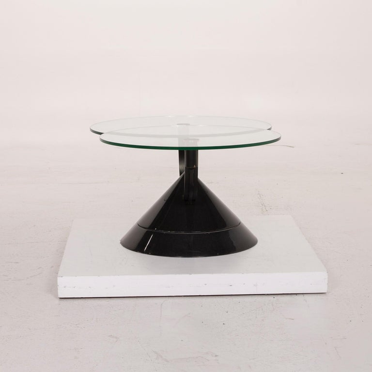 Rolf Benz Glass Table Black Coffee Table Stone Outlet Adjustable 9