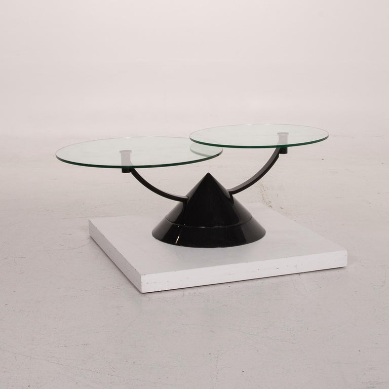 Rolf Benz Glass Table Black Coffee Table Stone Outlet Adjustable 2