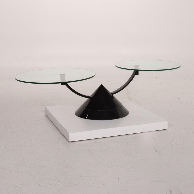 Rolf Benz Glass Table Black Coffee Table Stone Outlet Adjustable 3