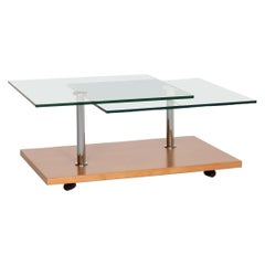 Rolf Benz Glass Wood Coffee Table Variable Table