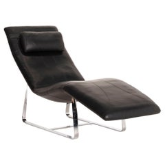 Rolf Benz LC 360 Leather Lounger Black