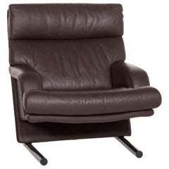 Rolf Benz Leather Armchair Brown Dark Brown Club Armchair