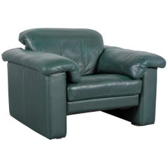 Rolf Benz Leather Armchair Green One-Seat